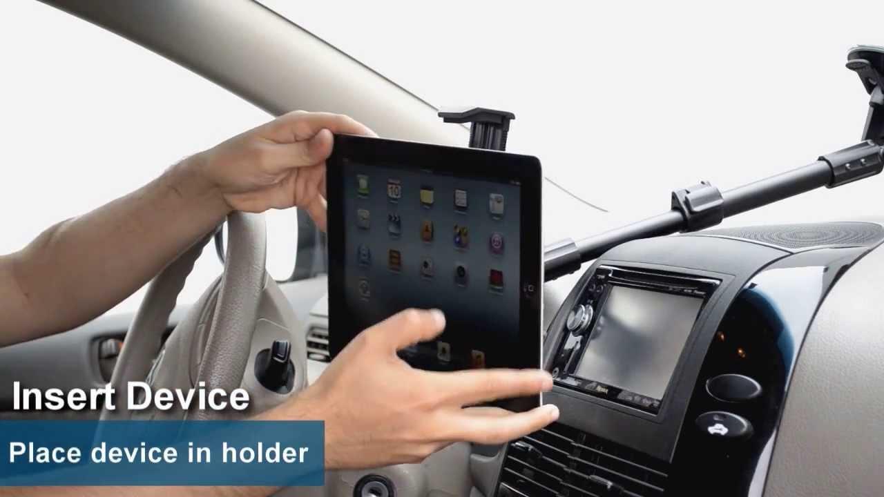 Ipad air ipad 3 ipad 2 extending windshield car mount for apple ipad arkon tabpb117 youtube