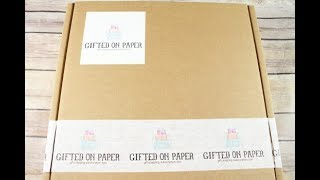 Gifted on Paper December 2017 Monthy Giftwrapping Subscription Unboxing  + Coupon