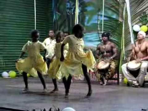 Garifuna girls dancing group in Festival Garifuna, Nicaragua
