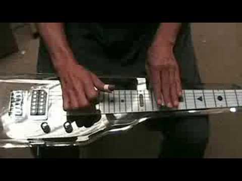 lucite electric lap seel guitar (gui171)