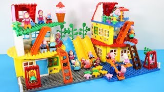 Peppa Pig Building Blocks House Lego Toys For Kids - Lego Duplo House Creations Toys #4