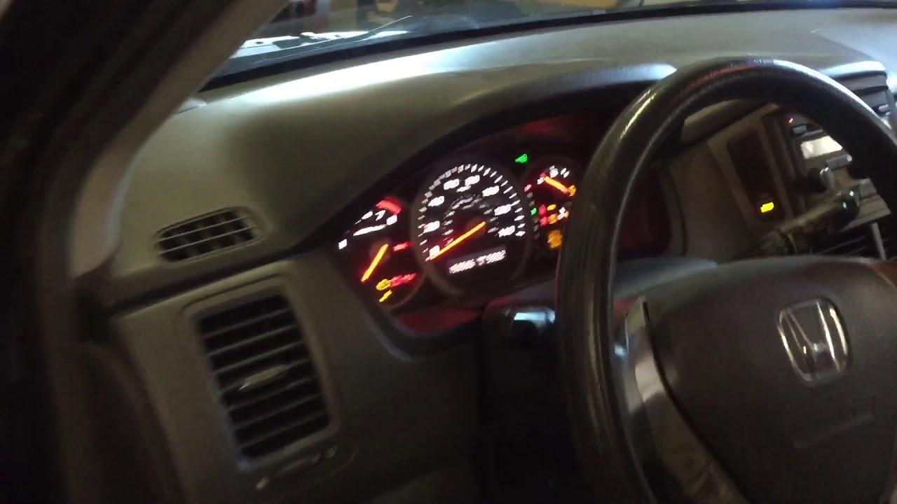 Honda Green Flashing Key Security Light