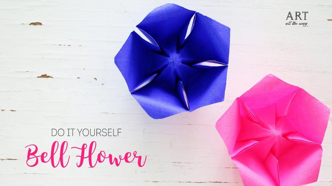 Paper bellflower easy paper flowers diy origami youtube paper bellflower easy paper flowers diy origami ventuno art solutioingenieria Choice Image