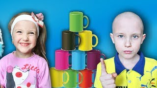 Ksysha Pretend Play with Colored Cups