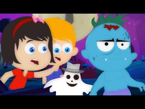 Хэллоуин ночь страшная песня для детей дети песня Night Of Halloween Songs For Children Kids Cartoon