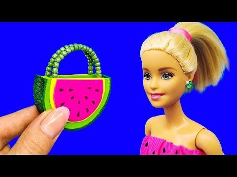 Barbie Doll Set. DIY for Kids. How to Make Miniature Crafts