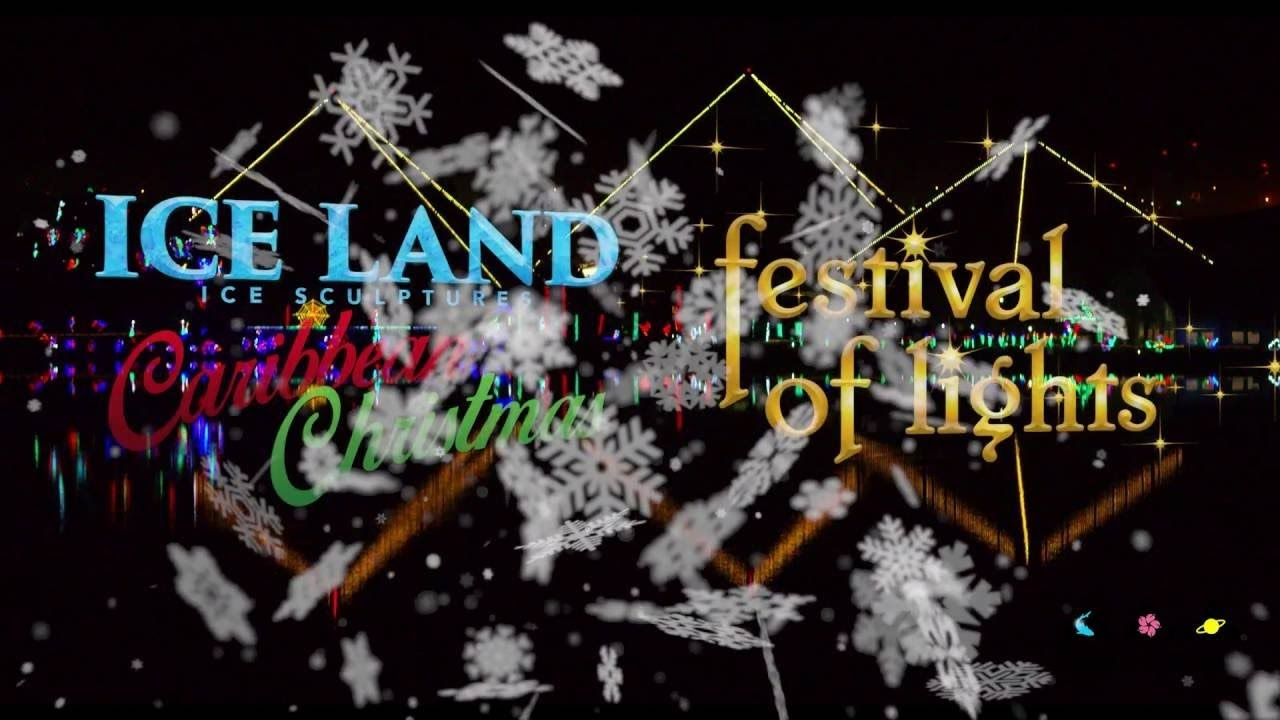 Moody Gardens Ice Land Festival Of Lights 2016 Youtube