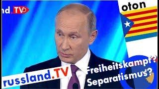 Putin zu Katalonien, Kosovo und Krim auf deutsch