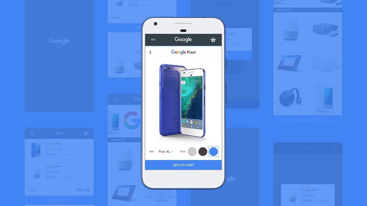 Mobile Web Design Ecommerce Site Google Store In Adobe Xd Youtube