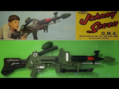 JOHNNY SEVEN OMA TOY GUN CLASSIC UNBOXING AND REVIEW!!