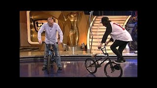 Stefan zeigt seine BMX-Tricks - TV total