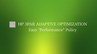 HP 3PAR Einfach AO leistungspolitik