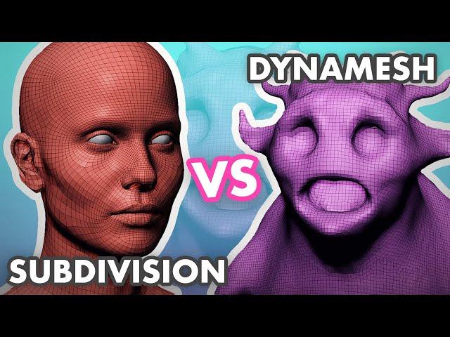 Subdivisions VS Dynamesh in ZBrush