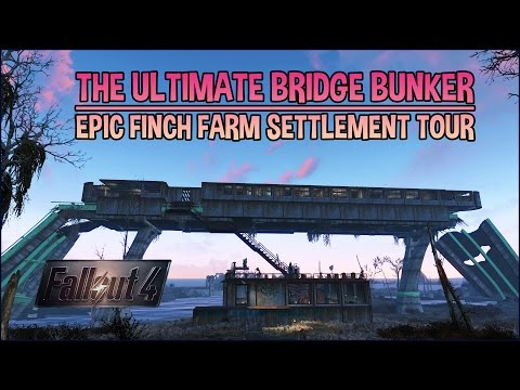 The Ultimate Bridge Bunker | Epic Finch Farm Base Settlement Tour