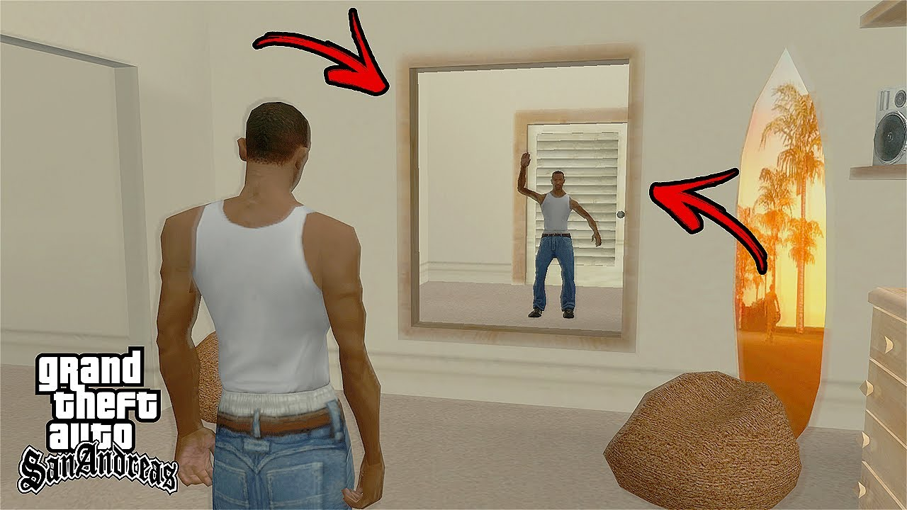 What Happens if You Get Into The Mirror of CJ's House in GTA San Andreas? (Hidden Secret)