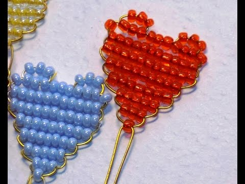 Сердце из бисера. Схема плетения