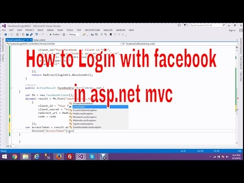 How to  login with facebook in asp.net- mvc 5