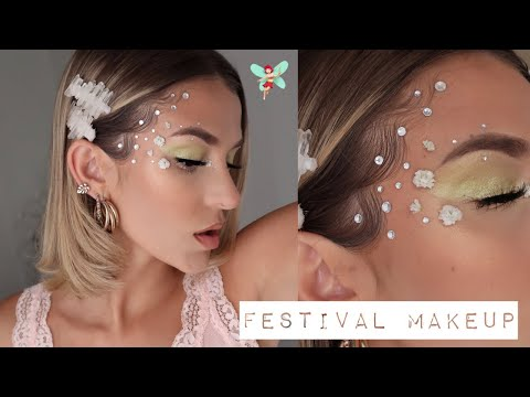 FESTIVAL MAKEUP & CRYSTAL EDGES! (euphoria inspired look!) | Delaney Bender thumbnail