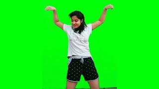Girl Dance In Green Screen Chroma Key Video