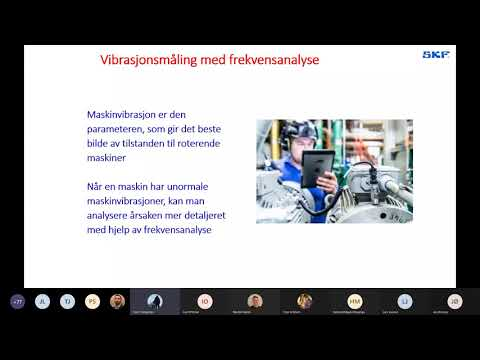 SKF Norge webinar om prediktivt vedlikehold med ProCollect demonstrasjon
