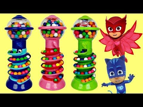 GUMBALL BANK Candy Dispenser with PJ MASKS