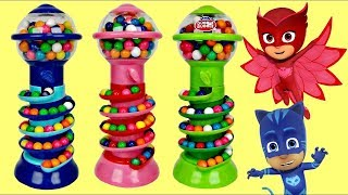 Unboxing Gumball Bank Candy Dispensers with Pj Masks