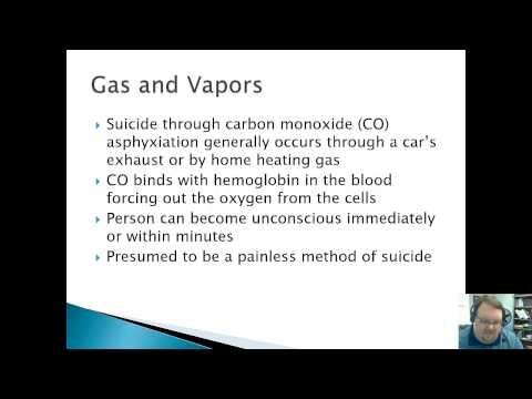 Lecture 6 - Suicide Attempt Methods