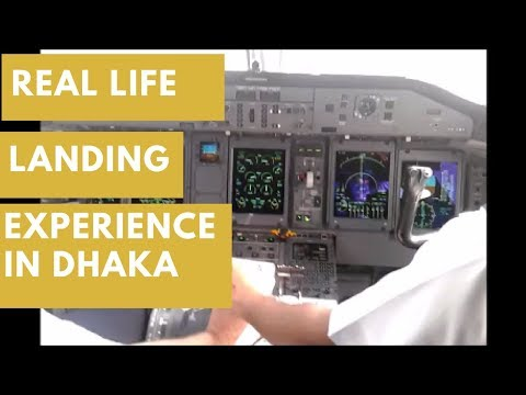 Real Life Landing Experience From Biman's Cockpit View in Dhaka Hazrat Shah Jalal int Airport