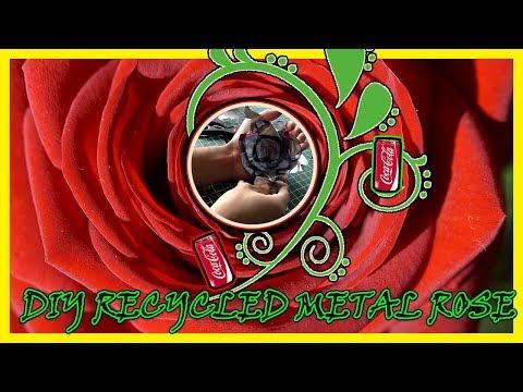 DIY RECYCLED METAL ROSE TUTORIAL