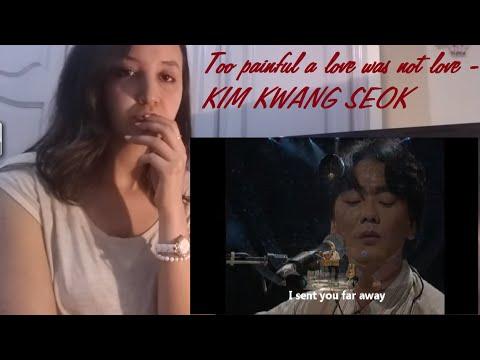 , Kim Kwang Seok- Too Painful a Love Was Not Love _ REACTION