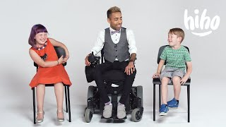 Kids Meet a Guy in a Wheelchair for the First Time | Kids Meet | HiHo Kids