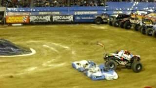 first monster truck backflip