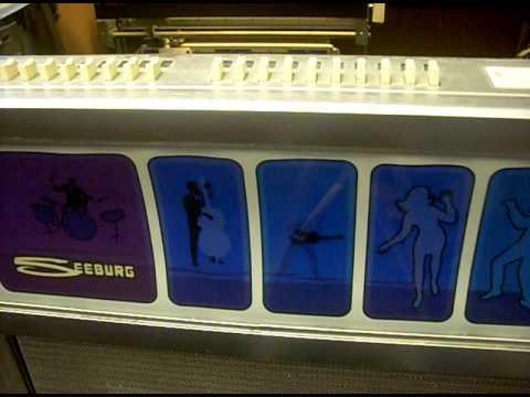 vintage seeburg es 100 phono jet jukebox playing blondie. Black Bedroom Furniture Sets. Home Design Ideas