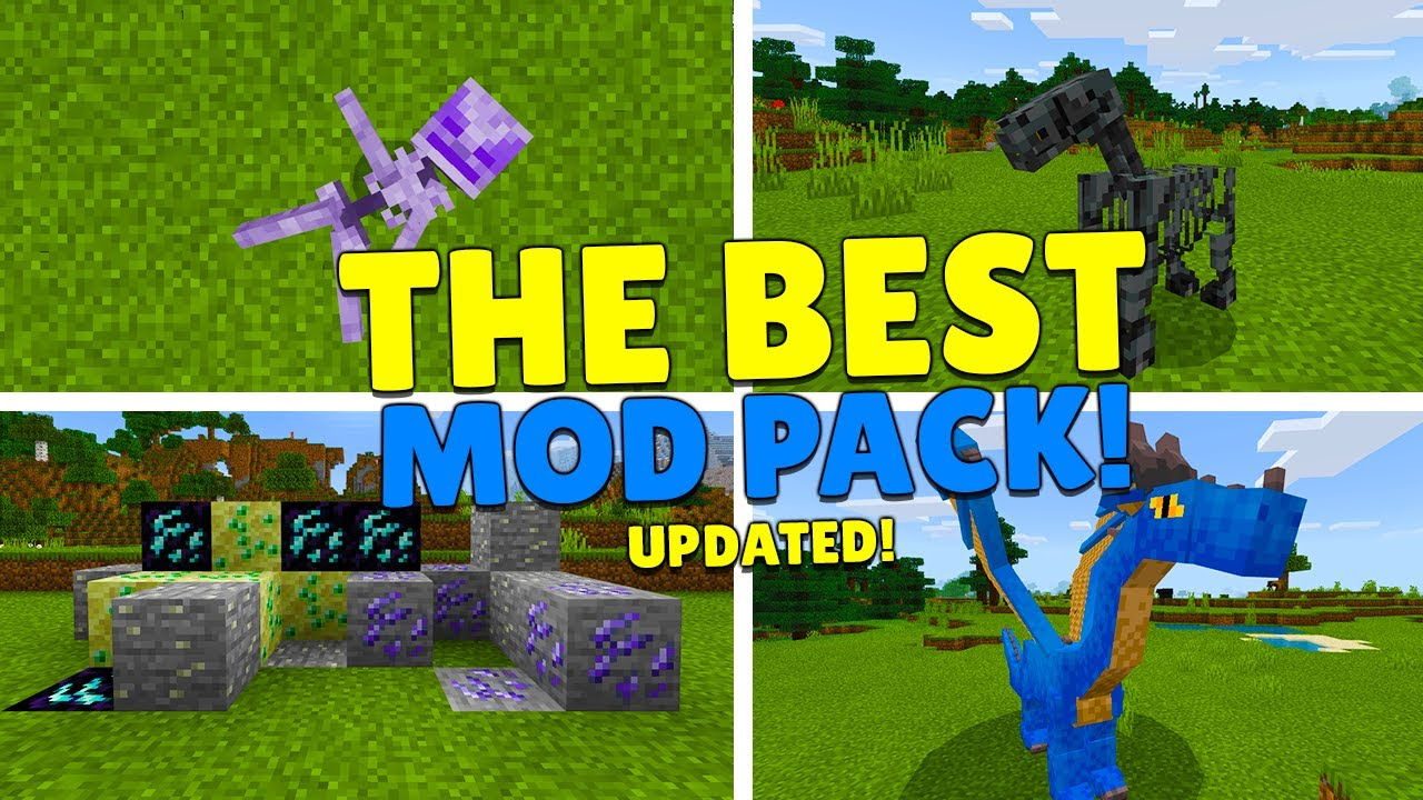 THE BEST MODPACK Has Been Updated Minecraft Pocket Edition/Bedrock