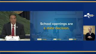 Governor Cuomo Announces NYS Will Decide on Fall School Reopening During the First Week of August