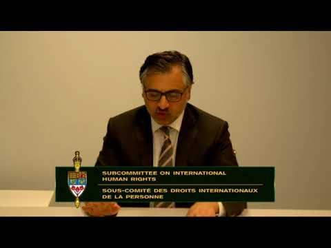 Human Rights in Iran: Testimony of Payam Akhavan before Parliament of Canada (May 2018)