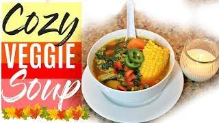 Delicious & EASY Vegetarian Soup | Fall Recipe