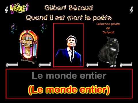 Gilbert Bécaud   Quand il est mort le poète