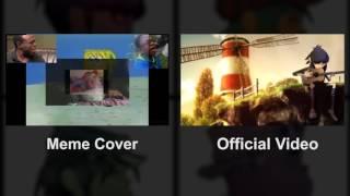 Gorillaz - Feel Good Inc.  Official vs. Meme Cover Comparison