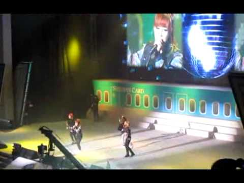 [fancam] 110122 2ne1 shinhan event