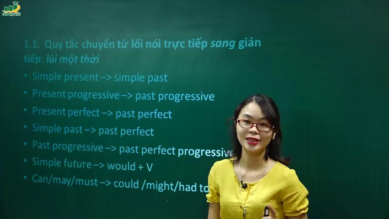 Tiếng Anh lớp 9 – Bài giảng Chuyển từ câu trực tiếp sang gián tiếp|Cô Thu Oanh