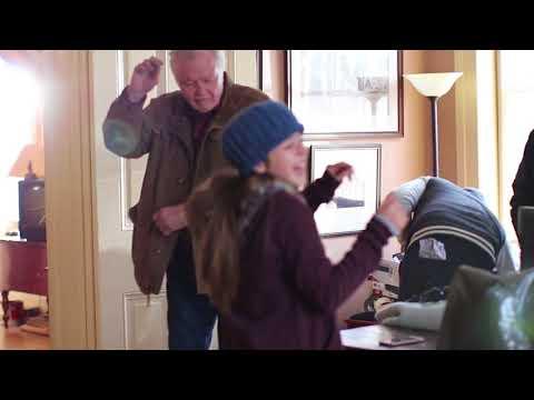 Jon Voight dancing on set with co-star Alexa Nisenson & Crew