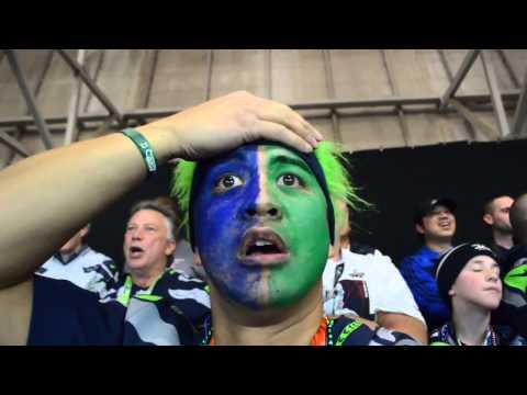 Seahawks Fan Reaction to Super Bowl Interception (NorbCam Selfie)