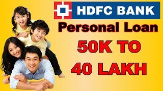 Hdfc Personal Loan For Salaried Person, Eligibilty, Charges, Interest Rate(hindi)