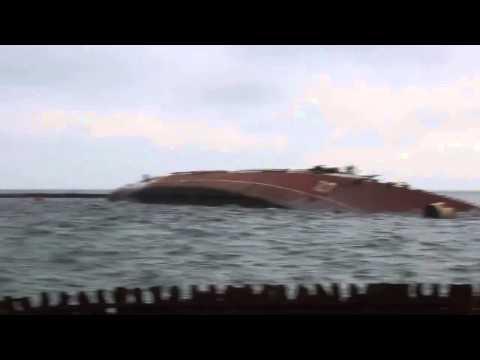"Navy base in Ukraine locked specifically sunken ship ""Ochakov"". Crimea"