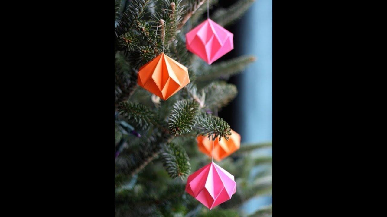 H qо новогодние украшения из бумаги