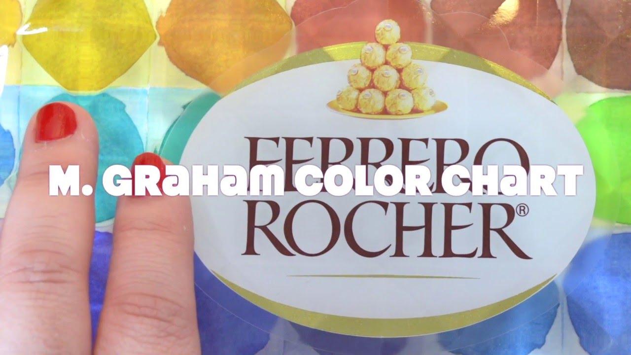 Watercolour Gouache Palette Colour Chart M Graham Ferrero