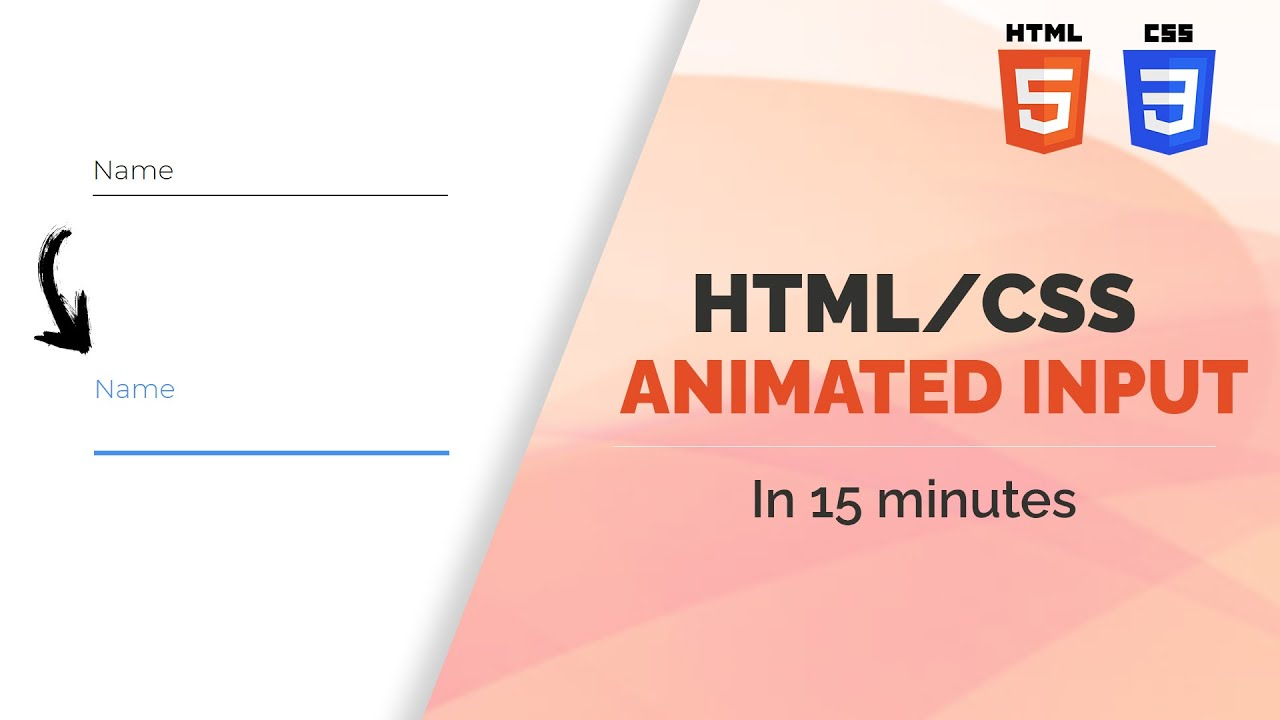 Animated Input Tutorial With HTML And CSS | Material UI