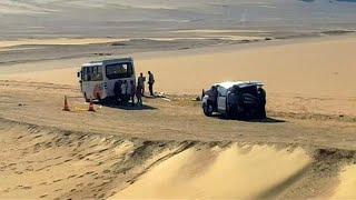 شاهد: لقطات للحافلة التي استهدفها دعش في المنيا بمصر