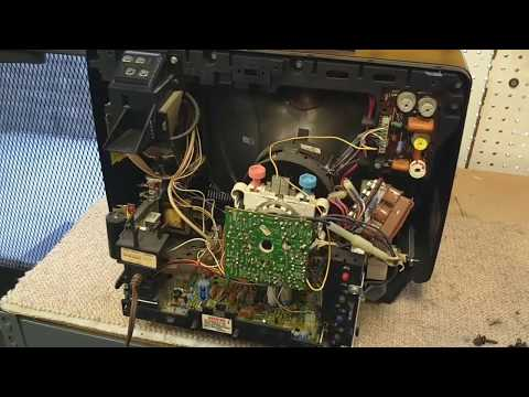 Troubleshoot & Repair a 1979 General Electric 13ack546w color television part 1/3